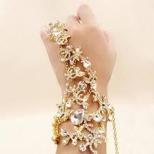 bracelet hand chain images Bridal bracelet wedding dress accessories bridal hand chains jpg