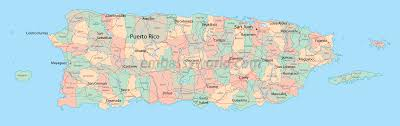 Puerto Rico On A Map by