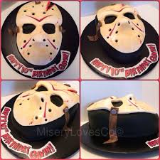 friday the 13th bday cake too cool horrorific sweet stuff