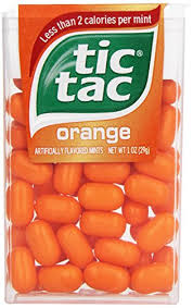 tic tac tic tac mints orange singles 1 oz pack of 12