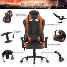 Desk Height Adjusters by Orange Ikayaa Ergonomic Racing Gaming Office Computer Desk Chair