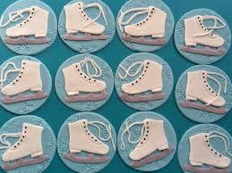 Skating Favors by 12 Skating Favors Skate Edible Fondant Cupcake Toppers