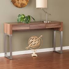 wood and metal console table with drawers console table minimalist skinny wood and metal console table of