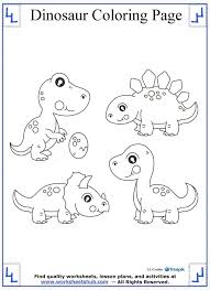terrific dinosaur coloring pages math worksheets kindergart
