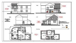 Floor Plan And Perspective Bungalow Ppt For Grade 10