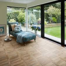 The Powder Room Cambridge Cambridge Parquet Camaro Luxury Vinyl Tile Flooring In Tramline