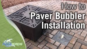 Paver Patio Kits by Aquascape U0027s Paver Bubbler Fountain Kits Youtube