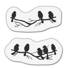 stickytiger small birds on branches mini st set