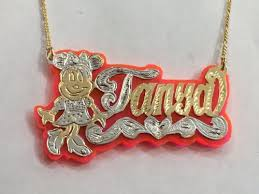 personalized name plate necklaces personalized name necklace gold plated any characters