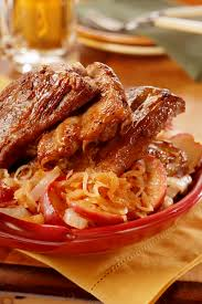 oktoberfest ribs with apple sauerkraut pork recipes pork be