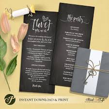 Wedding Program Chalkboard 44 Best Printtolife Images On Pinterest Wedding Signs