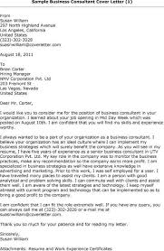 sample business consultant cover letter cover letter sample for