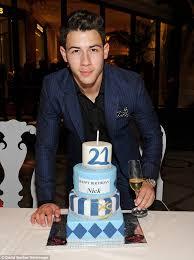 nick jonas celebrates his 21st birthday with girlfriend olivia