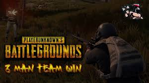 pubg 3 man squad xbox playerunknown s battlegrounds 3 man team win pubg youtube
