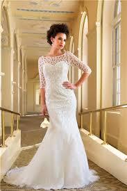 Destination Wedding Dresses Mermaid Bateau Chapel Train Beaded Destination Wedding Dress With