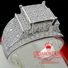 diamond king rings images Women 39 s ladies 14k white gold finish lab diamond engagement jpg