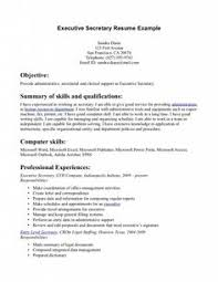Legal Assistant Resume Examples by Download Secretary Objective For Resume Examples