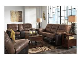 Presley Reclining Sofa by Signature Design By Ashley Follett Two Tone Faux Leather Reclining