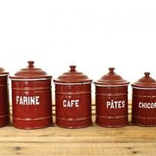 vintage kitchen canister vintage european enamel kitchen canister set