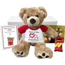 engraved teddy bears personalized teddy valentines gift set 13 vera