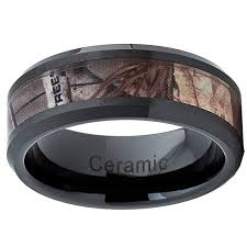 camo mens wedding bands black ceramic s camo ring comfort fit band 8mm sizes