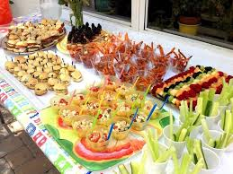 food ideas buffet decoration
