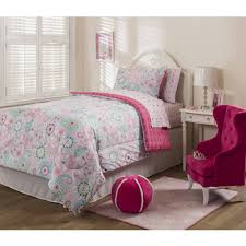girls pink bedding mainstays kids sherbet pink bed in a bag bedding set walmart com