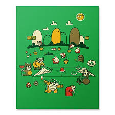 Super Mario Home Decor Amazon Com Mario Bros Print Super Mario Wall Art Video Game