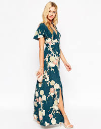 wedding maxi dresses image 4 of asos wedding maxi dress with wrap front in floral bloom