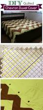 How To Make Your Own Duvet How To Make A King Size Quilted Chevron Duvet Cover The Crafty