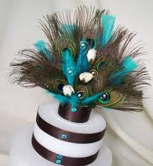 peacock wedding cake topper turquoise peacock weddings cake topper chocolate brown turquoise