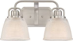 Quoizel Bathroom Lighting Quoizel Dbn8602bn Dublin Brushed Nickel 2 Light Bathroom Lighting