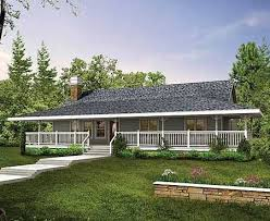 Cottage House Plans With Wrap Around Porch 167 Best One Story Ranch Farmhouses With Wrap Around Porches