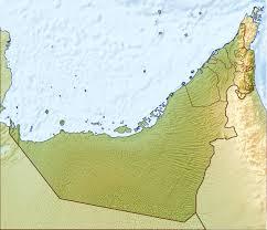 uae map detailed relief map of uae uae united arab emirates asia