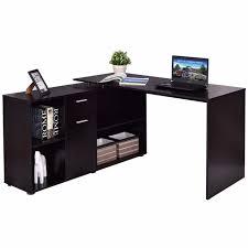 Corner Laptop Desk Goplus Rotating L Shape Computer Desk Corner Pc Laptop Table
