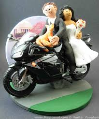 wedding cake toppers dirt bike wedding cake toppers