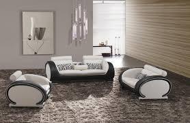 Simple Modern Living Room Black White Sectional Sofa Intended - Black modern living room sets