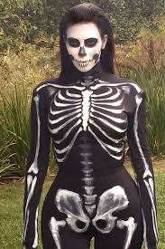 skeleton costume halloween city all of kim kardashian and kendall and kylie jenner u0027s throwback