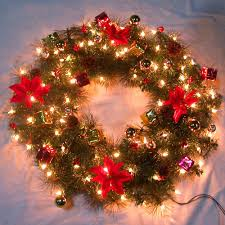 large outdoor lighted wreaths lights decoration