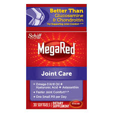 Joint Comfort Dietary Supplement Megared Joint Care 30 Softgels Omega 3 Krill Oil Hyaluronic