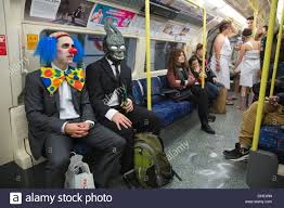 public halloween party halloween party goers travelling on london u0027s underground tube
