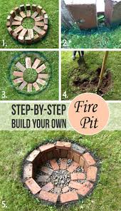 Easy Backyard Fire Pit Designs by Best 25 Sunken Fire Pits Ideas On Pinterest In Ground Fire Pit