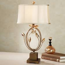 Brass And Crystal Table Lamps Graceful Crystal Spheres Table Lamp With Antique Brass And White