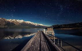 wallpaper night sky 5k 4k wallpaper stars mountains bridge