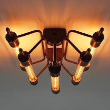 industrial flush mount light industrial 5 light close to ceiling light beautifulhalo com