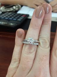 wedding band with engagement ring 15 best collection of solitaire engagement rings with wedding bands