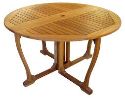 International Caravan Royal Tahiti  In Round Gate Leg Patio - Gateleg kitchen table