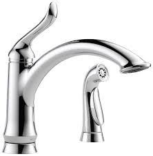Delta Single Lever Kitchen Faucet by Delta 4453 Dst Linden Single Handle Kitchen Faucet With Spray