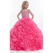 aliexpress com buy fuchsia luxury little girls ball gown pageant