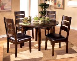 furniture agreeable round glass top dining table and chairs room